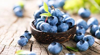 Синие ягоды осенью